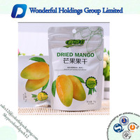 250g Custom Printed Plastic Zip Lock Dried Fruit Bag Matte Food Packaging