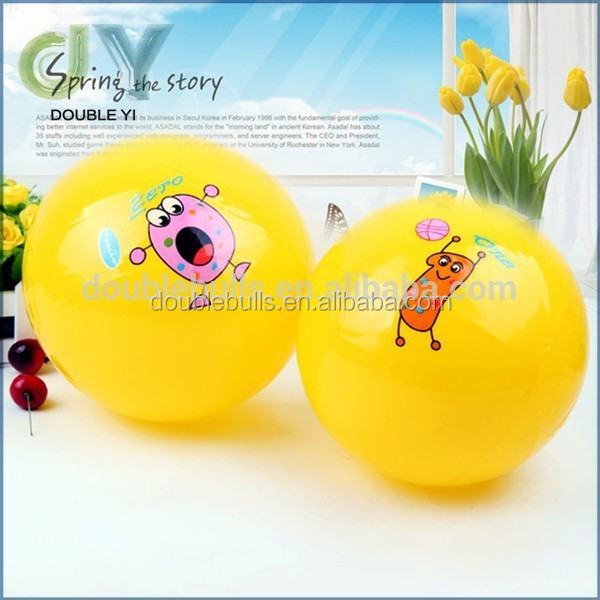2015 New product Promotional Logo Customized Printed Yellow PVC Beach Ball