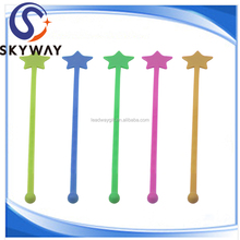 Cocktail Star Sticks Colored Plastic Stirrers for Drinks