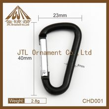 Fashion metal 40mm black carabiner