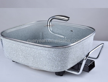 Electric grill pan Frying pan with NON stick lacquer and Glass lid YP-8006-609