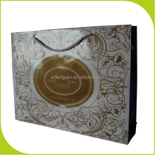 hot gold press OEM production paper shopping bag