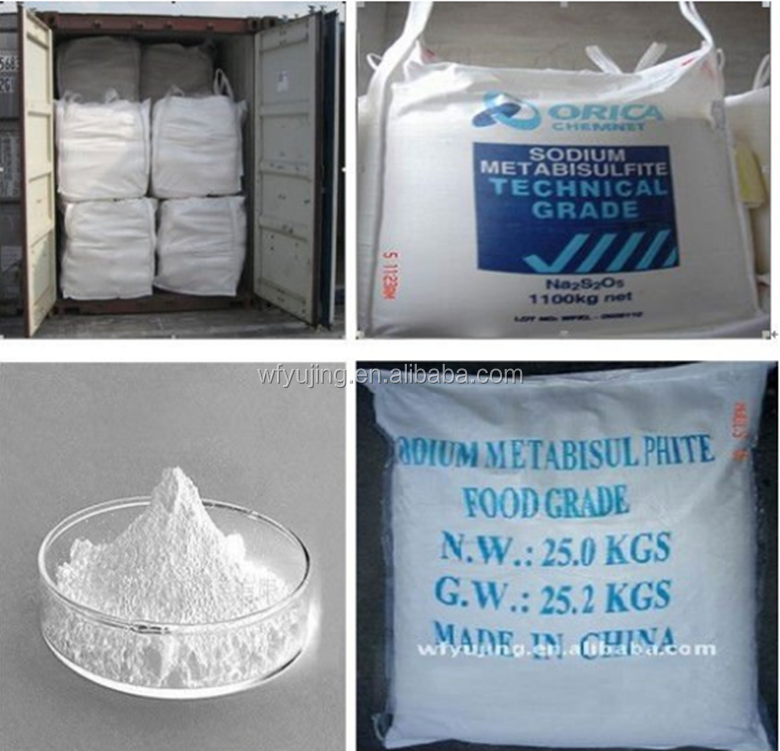 Food preservatives sodium metabisulphite food grade/smbs fg