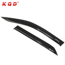 Auto exterior accessories black net color window visor wind deflector door visor injection for toyota fortuner 2016