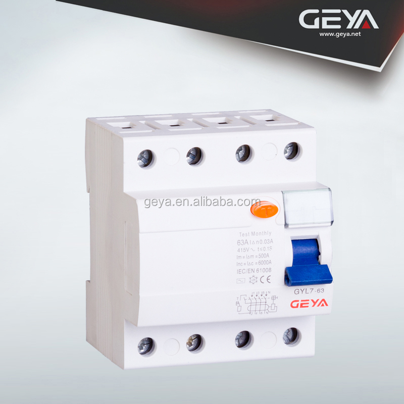 6KA/10KA high breaking capacity2P 4P ELCB/RCBO/RCD