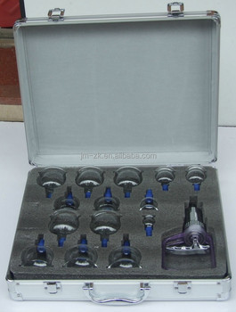 Vacuum Massage Glass Therapy Cupping Device Set of 14 pcs
