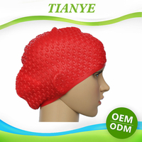 Wholesale Silicone water drop swim cap for Long Hair