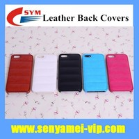 2015 High Quality Fashion Body Armor Design Shockproof Back Cover Leather Case For iPhone 5S
