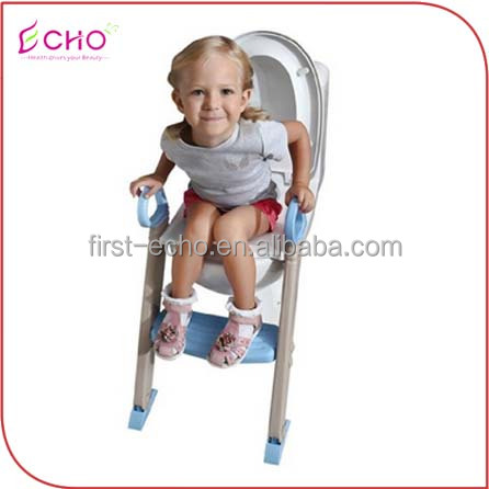 ECHOLUX SD1019 2016 hot selling dog folding toilet seat trainer with ladder plastic baby potty chair