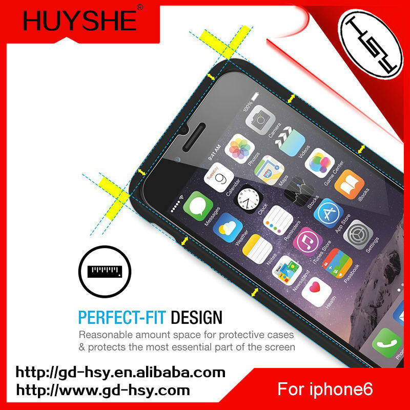 HUYSHE japanese sexy blue film mobile phone magnetic tempered glass screen protector for iphone 6 plus