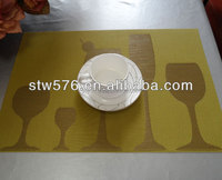 PVC placemat/mesh fabric table mat/plastic mat