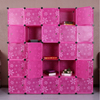 25 cubes big fashion plastic storage plastic pp cube for books, design bookcase cube DIY bookcase designs (FH-AL0085-25)