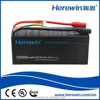 wholesale high performance 12000mAh 6S 22.2V 20C lipo battery for UAV/Drone factory in China