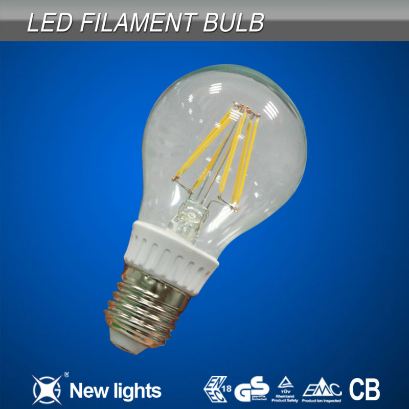 New arrival 360 degree led filament bulb 6w warm white,Replace incandescent filament light bulb