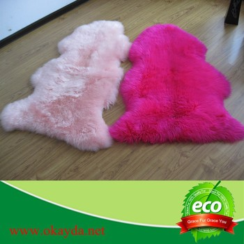 Sheepskin Rug Colored Shaggy Rugs Pink Sheepskin Rug