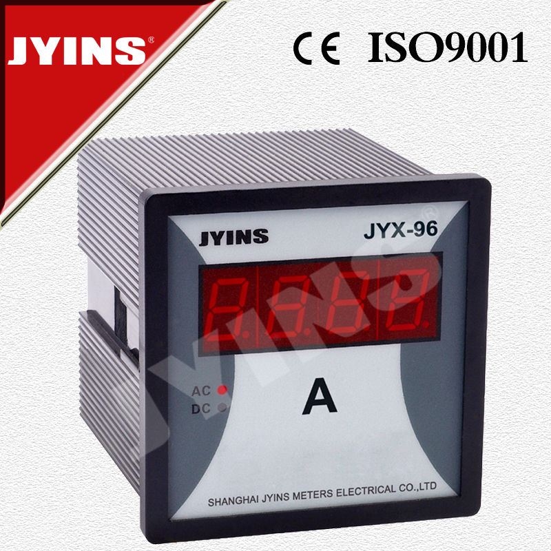 high quality CE ac dc digital ampere meter LED JYX-96 96*96*80mm