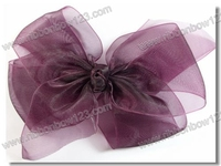 25 pieces a lot Organza lace for girls hair clip