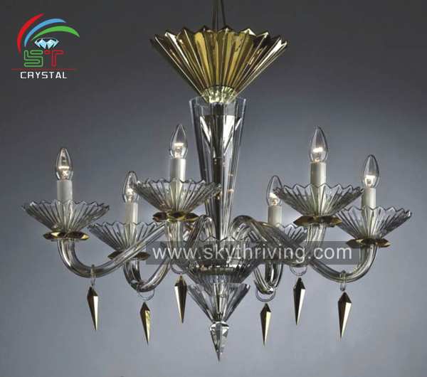 crystal chandelier lighting pendant/ wedding decoration glass chandelier lamp