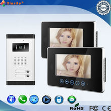 waterproof wired door bell video intercom for multi apartments