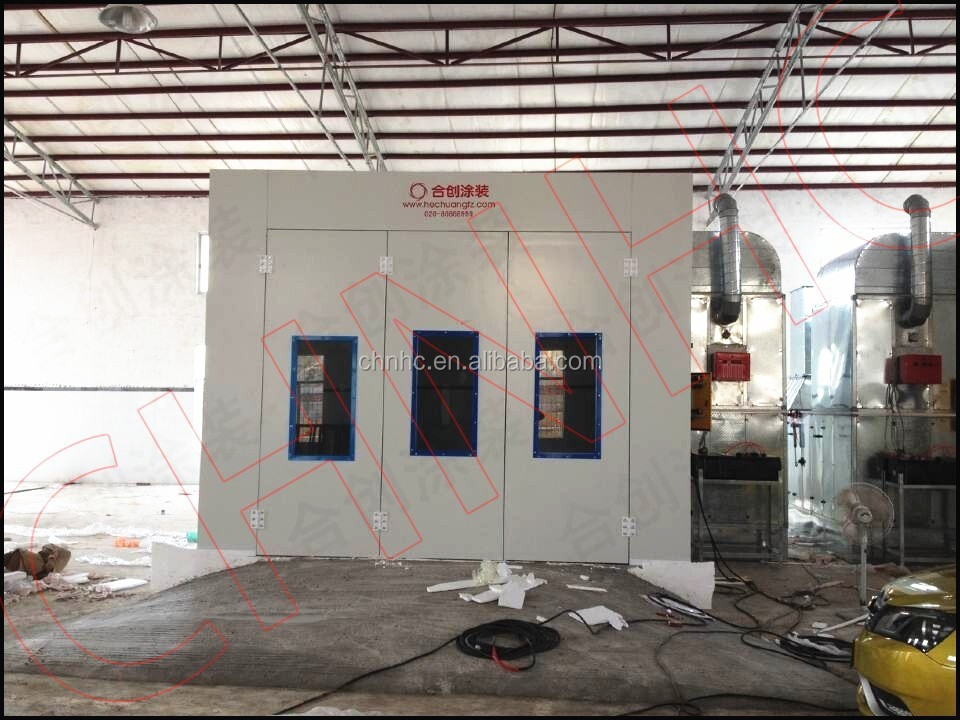 Car body painting and baking machine auto spray paint oven booth for sale with CE