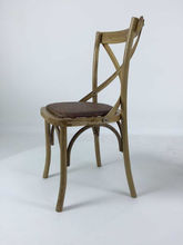 Wholesale French Bistro Style Timber Cross Back Chair