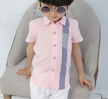 D70067H Korean Style soft Cotton Short sleeve T-shorts for boy With wholesale price