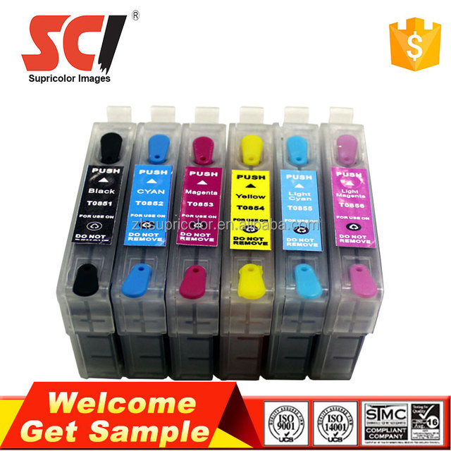 T0851-T0856 refill cartridge for Epson 1390 ink cartridge