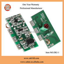 ZR2-1 superheterodyne with learning function RF transmitter and receiver module