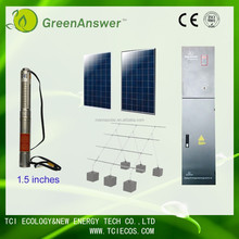 High head 203m 18t per hour 1.5KW solar water pump system for water scape ,fruit trees