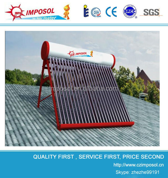 Domestic unpressurized solar system , solar electricity generating system for home