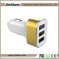 3 Port Cell Phone Car Charger , 3 Usb Car Charger For Blackberry , Bullet Car Charger