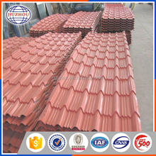 China building material colorful steel sheet galvanized corrugated red roof tile