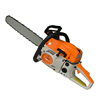 gas chain saw used in garden