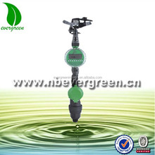 Garden sprinkler set with sprinkler, irrigation water timer and water intake valve
