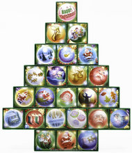 Best selling custom made new design Christmas Tree Treasure Box Advent Calendar (Countdown to Christmas)