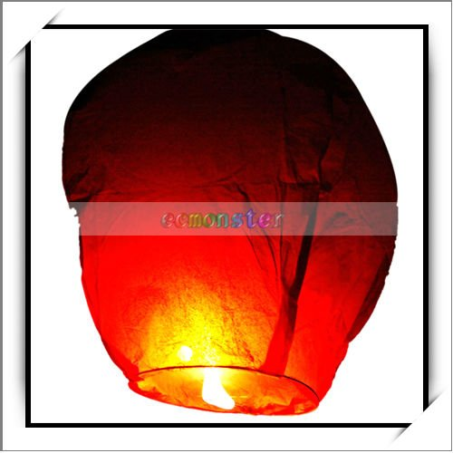 Red Luminary Chinese Paper Cheap Sky Lanterns For Wishing-W00903