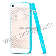 New Arrival Fashion Ultra Slim Double Color HOCO Mesh Design PC + TPU Case for iPhone 5 5S