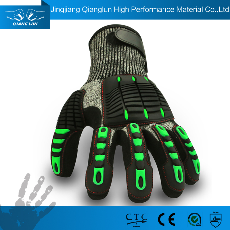 High Durability Cut Resistant Hand Gloves with Velcro Strap