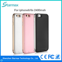 Precise power display 2400mAh backup charger case for iphone 6