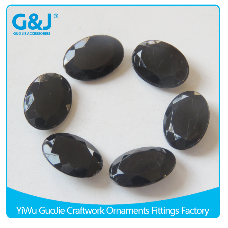 guojie brand wholesale Eco-friendly material oval shape acrylic stone plastic beads