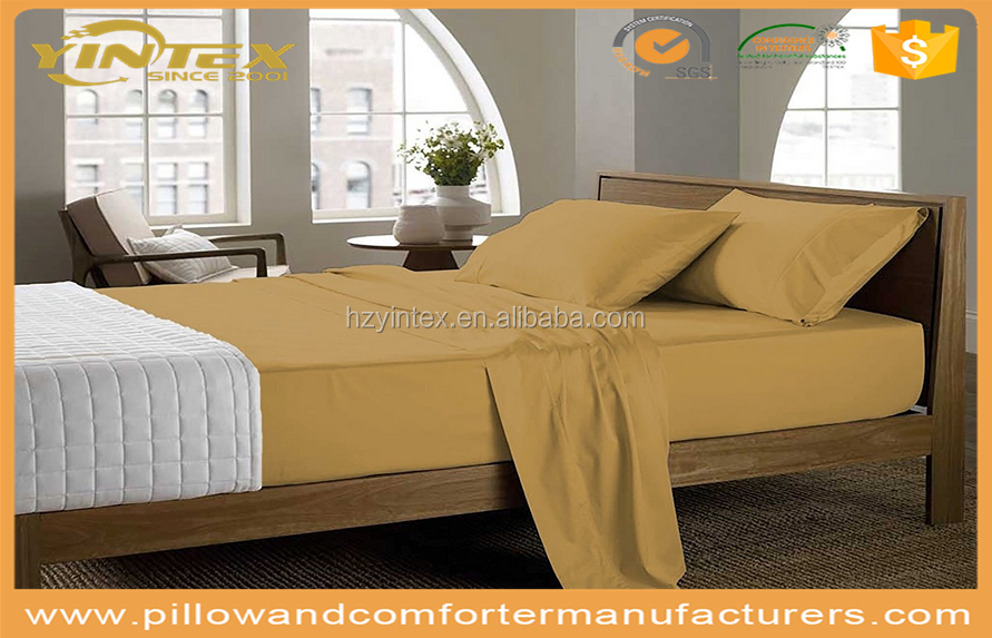 Soft To The Touch Unique design Excellent Dimensional stability bed sheet sets for home/hotel