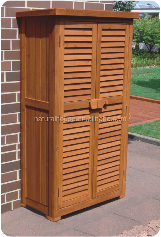 Classic Natural outdoor storage cabinet waterproof