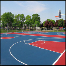 Outdoor basketball court sports flooring
