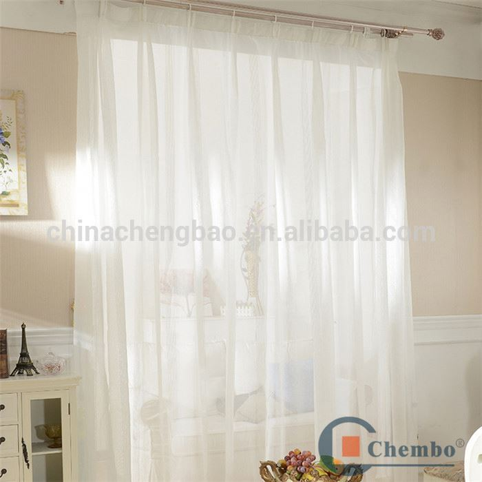 white color breathable swiss lace curtains fabric for living room curtain