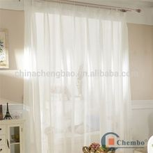 white color breathable swiss lace curtains farbic for living room curtain