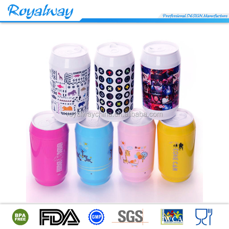 FDA approval green material PLA cold drink bottle with lid