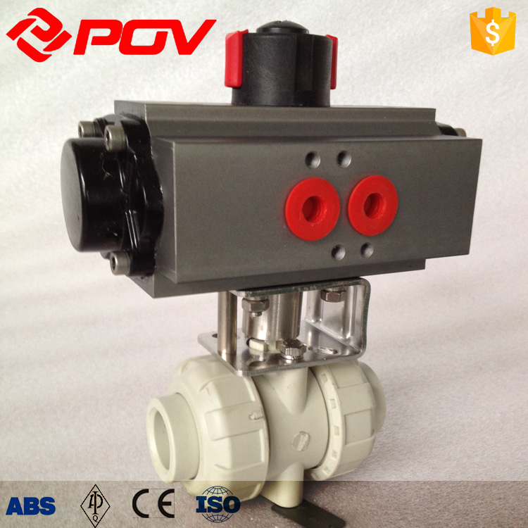 pph pneumatic ball valve union with air filer relief pressure valve