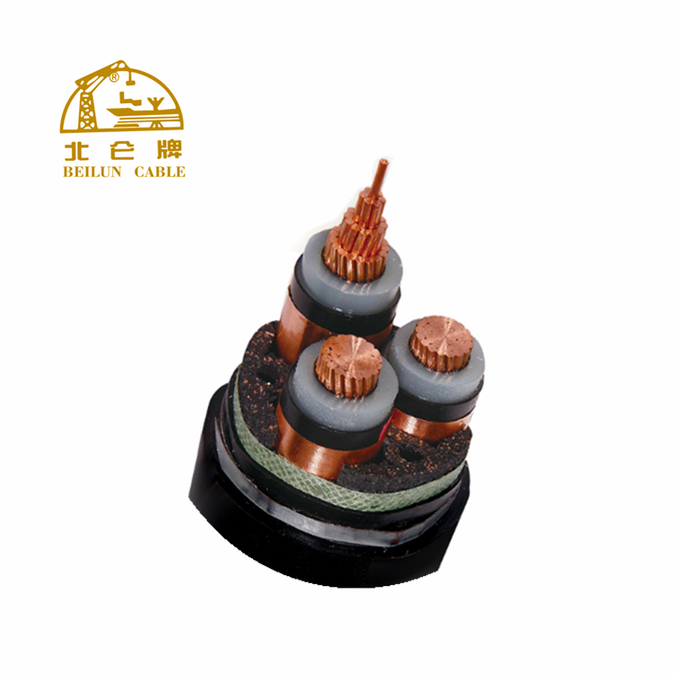 Professional high voltage 3 core XLPE power cable high voltage cable