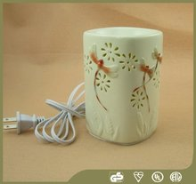 Wholesale Matte Glaze Electric Wax Tart Warmer Electric Dragonfly Painting Oil Burner
