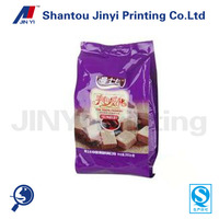 Snack packaging stand up plastic pouch for wafer biscuit